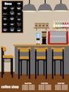 Coffee shop Interior Vecto