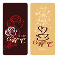 Coffee shop menu design templates card i love Stock Image
