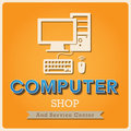 Coffee shop retro type font computer poster illustratiom eps Stock Photography