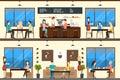 Coffee shop set.