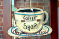Coffee Shop Sign Royalty Free Stock Photo
