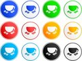 Coffee sign icons Royalty Free Stock Photo