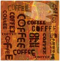 Coffee sign vintage nostalgic vector eps Stock Photos