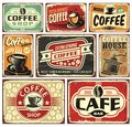 Coffee signs and labels collection Royalty Free Stock Photo