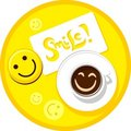 Coffee smile Stock Photography