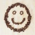 Coffee smiley Stock Image