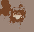 Coffee splash banner with a cup of and a Stock Photography