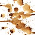 Coffee splashes Royalty Free Stock Images