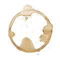 Coffee stain isolated on white background Royalty Free Stock Photo