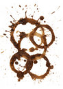 Coffee stains and splashes Stock Image