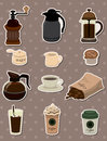 Coffee stickers Stock Photo