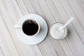 Coffee and Sugar Bowl Royalty Free Stock Photo