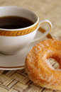 Coffee and sugar pastry Royalty Free Stock Photos