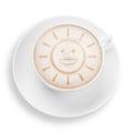 Coffee sun Royalty Free Stock Photo