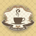Coffee symbol the vector image Stock Images