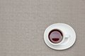 Coffee on the table cloth this is a photo of Royalty Free Stock Image