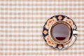 Coffee on the table cloth this is a photo of Stock Images