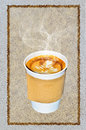 Coffee in a takeaway cup Royalty Free Stock Photography