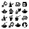 Coffee and tea icons set elegant created for mobile web applications Royalty Free Stock Photo