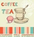 Coffee tea menu Stock Photo