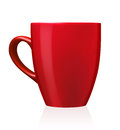 Coffee or tea mug an isolated single red for on a white background Royalty Free Stock Images