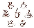 Coffee and tea symbols Royalty Free Stock Photography