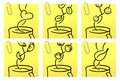 Coffee and tea | Yellow Sticker series Stock Images