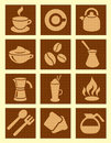 Coffee textured icons Royalty Free Stock Photo