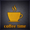 Coffee Time or Break Concept Design Card Royalty Free Stock Photo