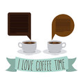 Coffee time design over white background vector illustration Stock Photo