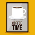 Coffee time design over yellow background vector illustration Royalty Free Stock Photography
