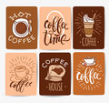 Coffee time Hipster Vintage Stylized Lettering. Vector Illustration Royalty Free Stock Photo