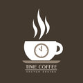 Coffee time over vintage background vector illustration Stock Images