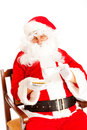 Coffee time for Santa Claus Stock Photo