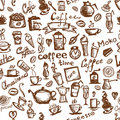Coffee time, seamless background for your design Stock Photography