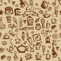 Coffee time, seamless background for your design Royalty Free Stock Image