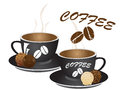 Coffee time vector illustration of cup of Royalty Free Stock Photo