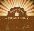 Coffee Vector grunge retro vintage label Royalty Free Stock Photo