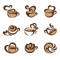 Coffee. Vector logo template set. Royalty Free Stock Photos