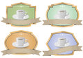 Coffee vintage badge illustration set of color Royalty Free Stock Photos