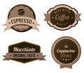 Coffee Vintage Labels Royalty Free Stock Photo