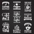 Coffee vintage labels set Royalty Free Stock Photo