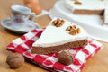 Coffee and Walnuts Cake Royalty Free Stock Images