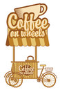 Coffee on wheels tray for sale Royalty Free Stock Photos