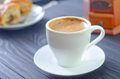 Coffee in white cup fresh Stock Photo