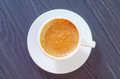Coffee in white cup fresh Royalty Free Stock Photos