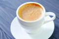 Coffee in white cup fresh Stock Image