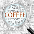 Coffee word cloud concept illustration wordcloud collage Royalty Free Stock Image