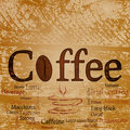 Coffee words background Stock Photo