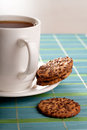 Coffeebreak  with cookies Stock Image